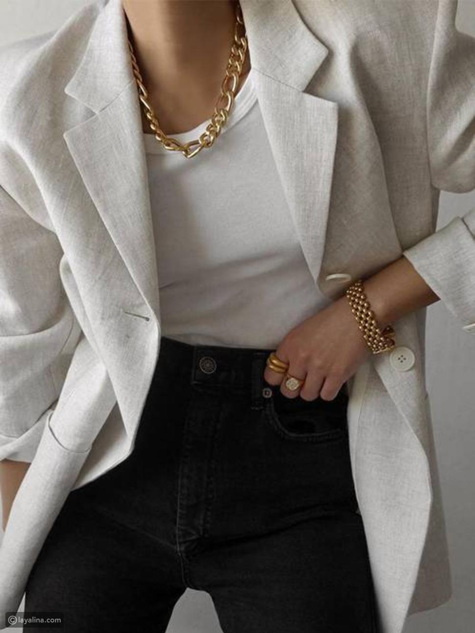 سلاسل ذهبية مكتنزة Bold Chain Necklaces