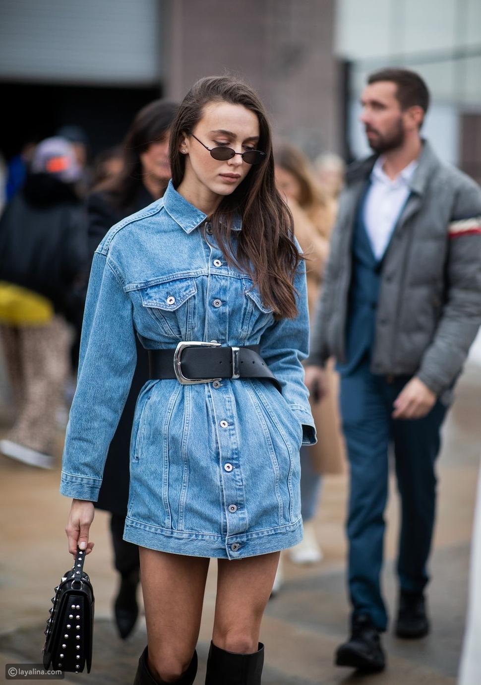 جاكيت جينز فستان