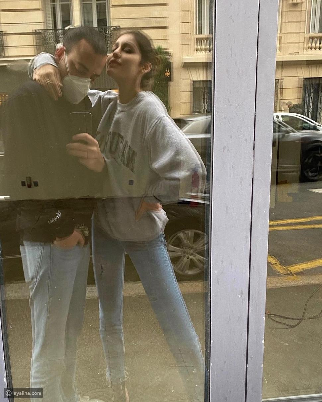 نور عريضة مع زوجها