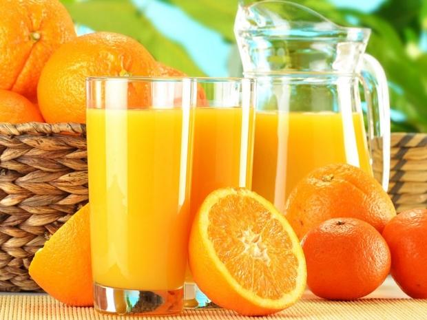 مكونات عصير حامض البرتقال
