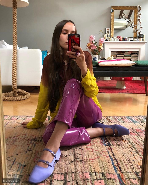 أحذية ماري جين ملونة