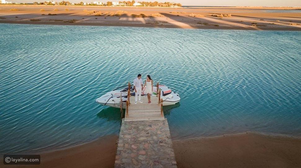 لقطة رومانسية لياسمين صبري وأحمد أبو هشيمة
