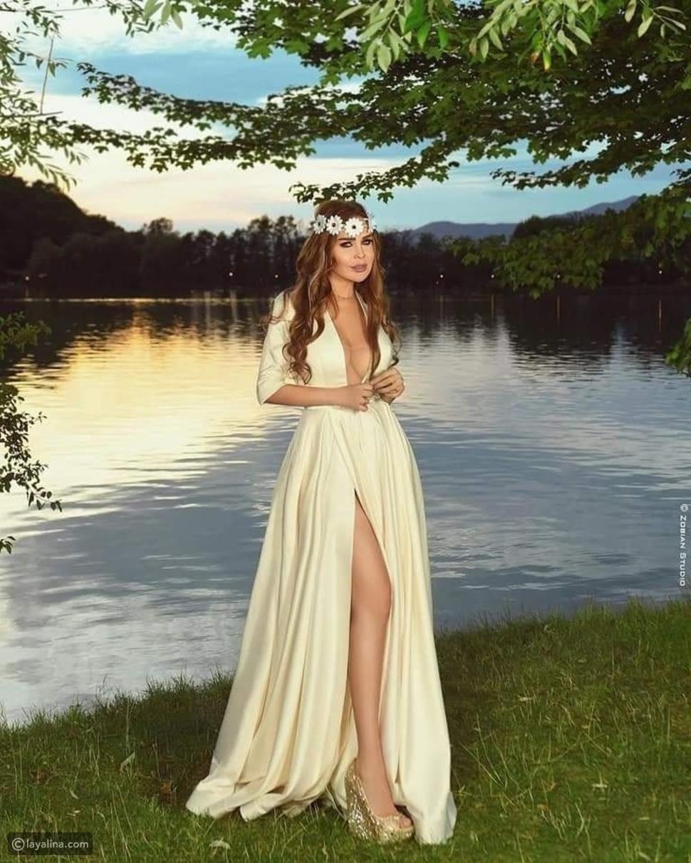 رولا سعد تحتفل بزفافها وتخطف الأنظار بإطلالة ساحرة على طريقة الأميرات