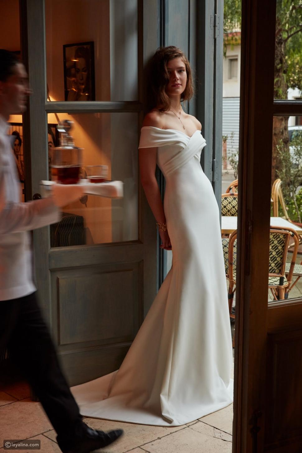 فساتين زفاف 2017 مكشوفة الأكتاف