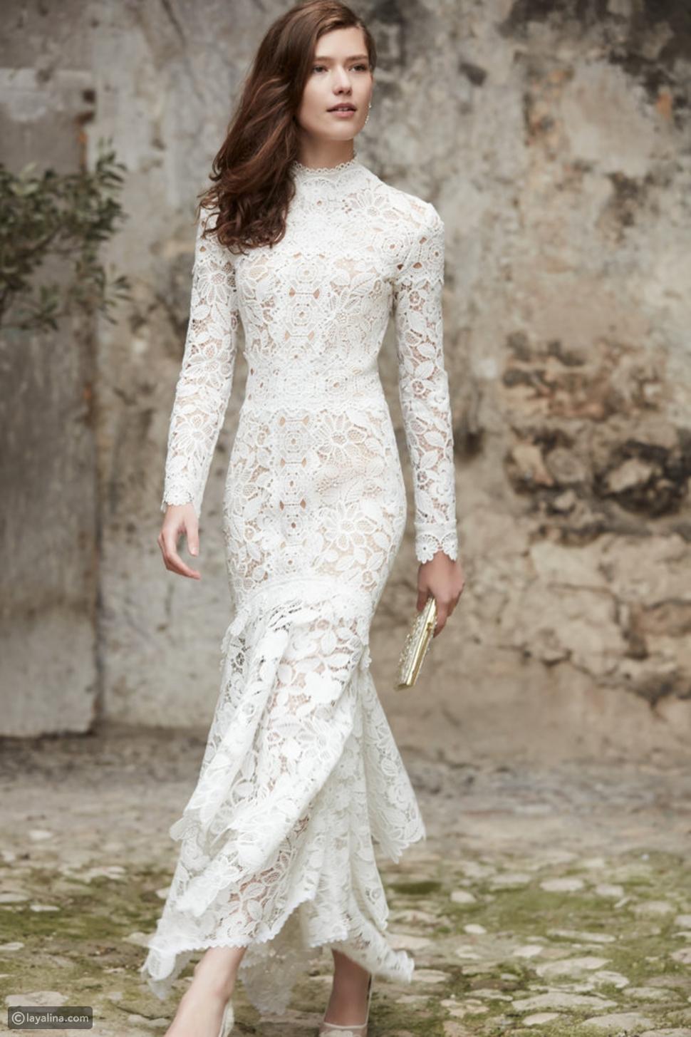 فساتين زفاف 2017 من الدانتيل