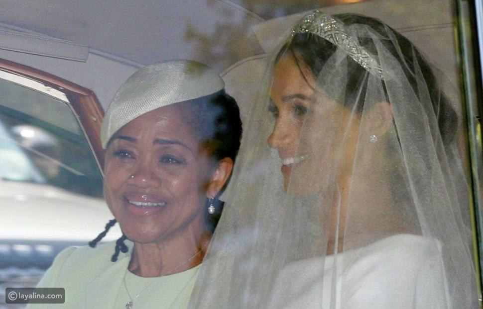 ميغان ماركل مع والدتها في طريقهما إلى قصر وندسور من أجل اتمام مراسم زواجها الملكي