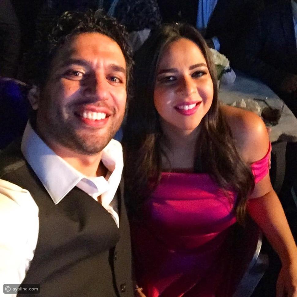 حسن الرداد وإيمي سمير غانم في زفاف عمرو يوسف وكندة علوش
