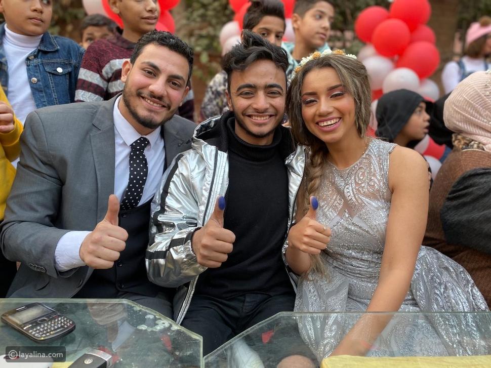 حفل زفاف البلوجر المصرية هبة مبروك على كلب
