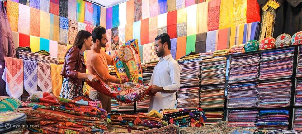 سوق الأقمشة في دبي