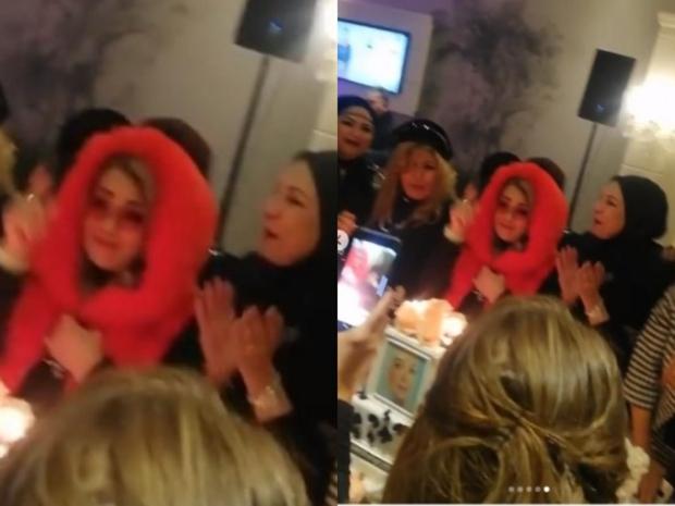 لقطة أخرى من حفل عيد ميلاد شهيرة تثير الانتقادات ضدها بسبب ما ارتدته