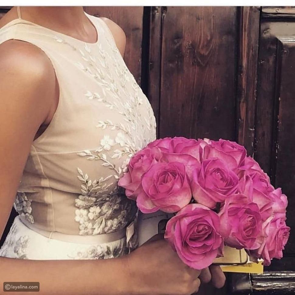 صورة تبرز جمال فستان زفاف ريم السعيدي
