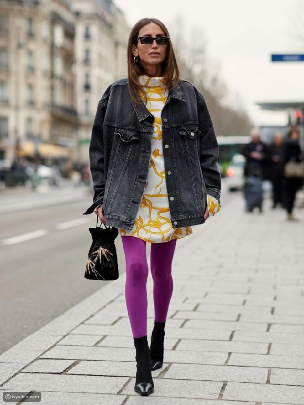 جوارب باللون البنفسجي