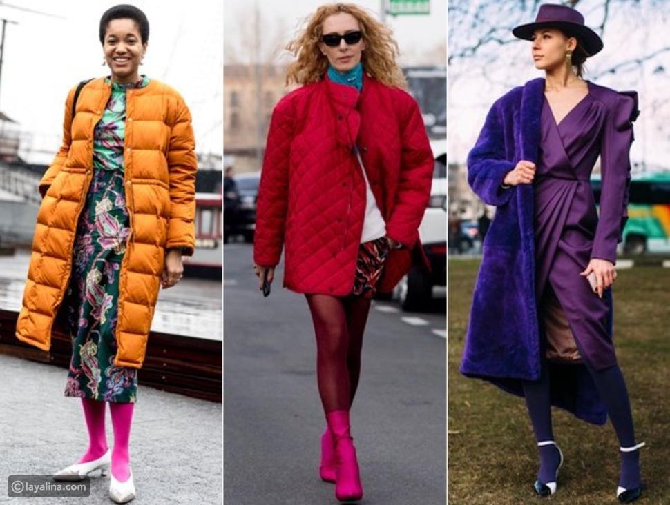 جوارب ملونة