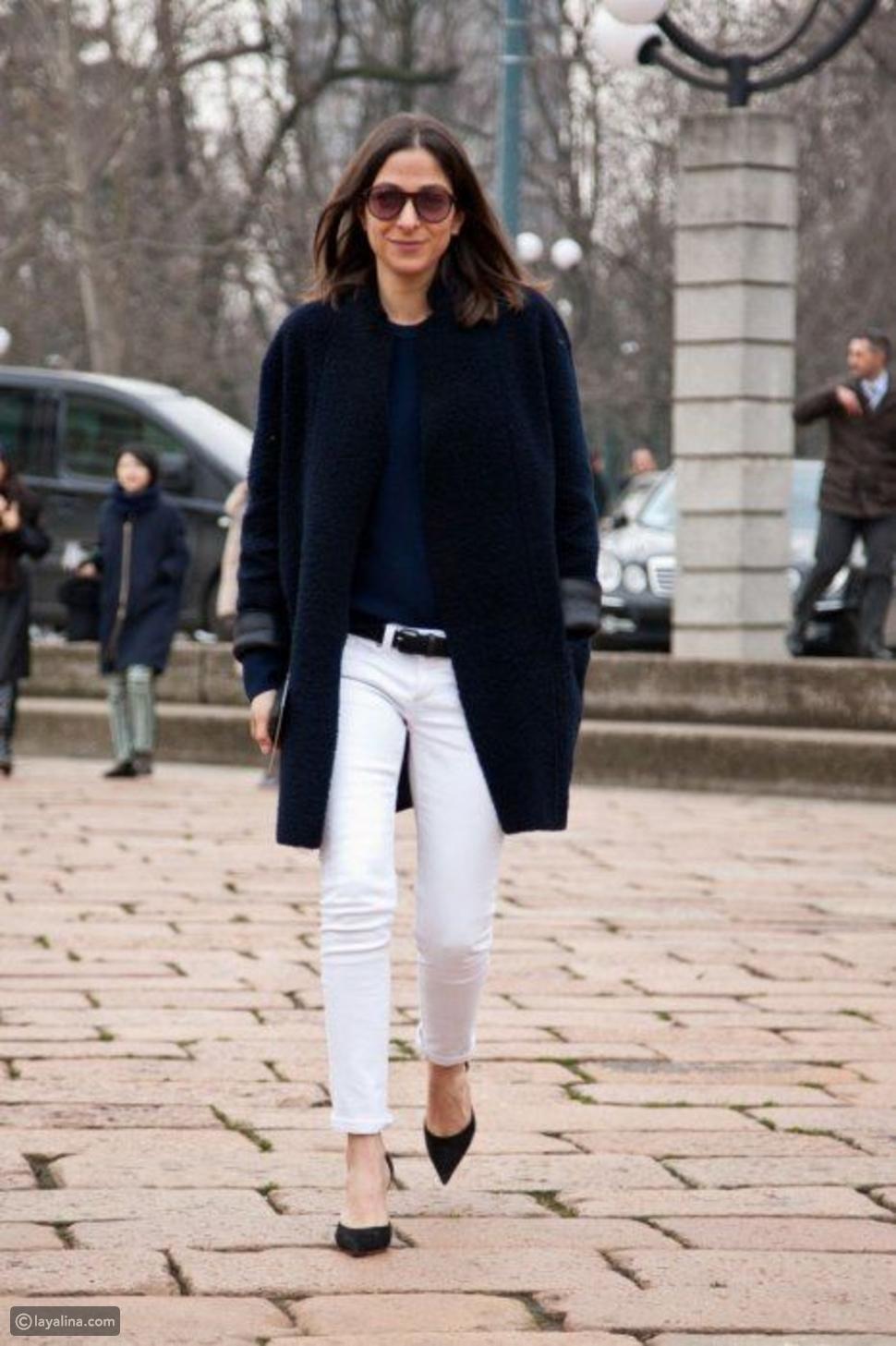 بنطال جينز أبيض