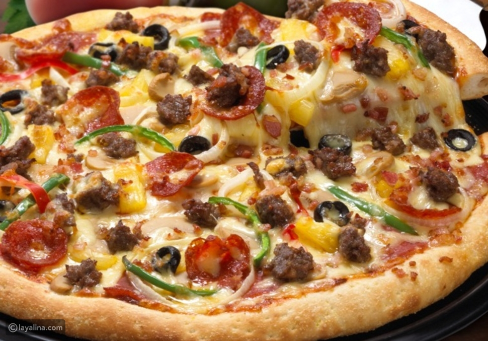 طريقة عمل البيتزا كالمطاعم