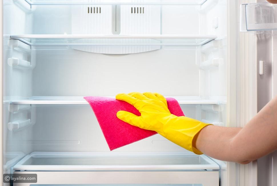 تنظيف الثلاجة من الداخل