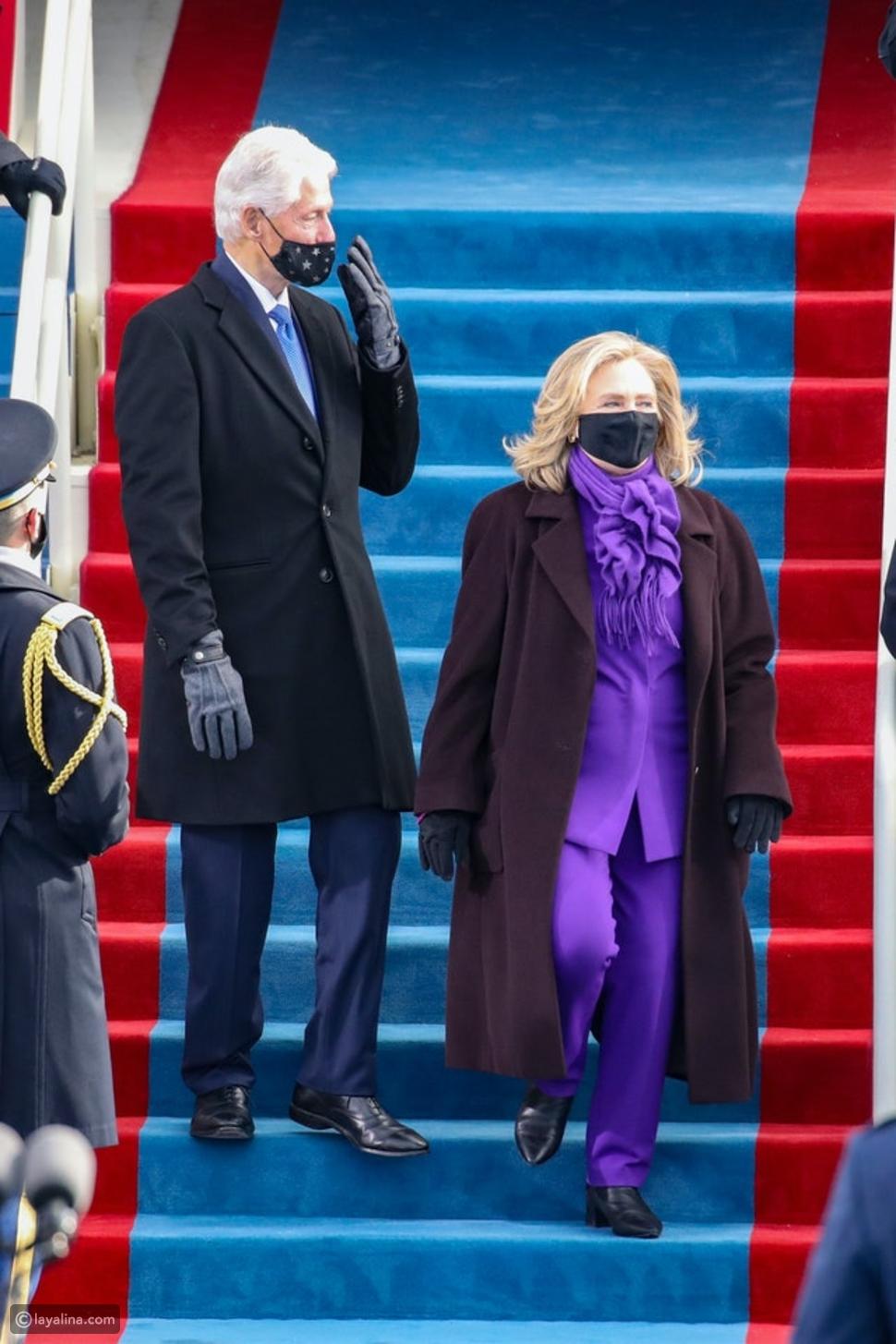 أزياء هيلاريكلينتون Hillary Clintonفي حفل تنصيب جو بايدن