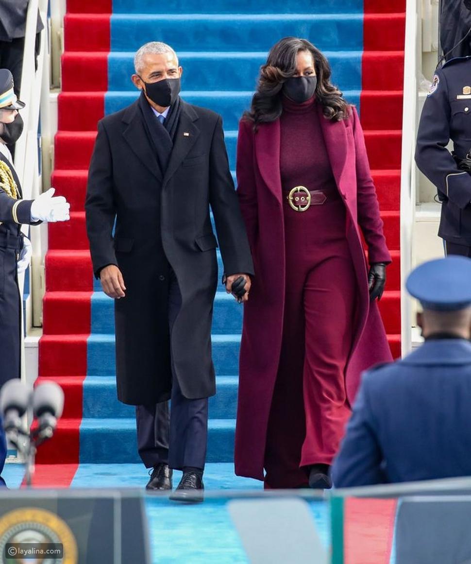 أزياء ميشيل أوباماMichelle Obama في حفل تنصيب جو بايدن