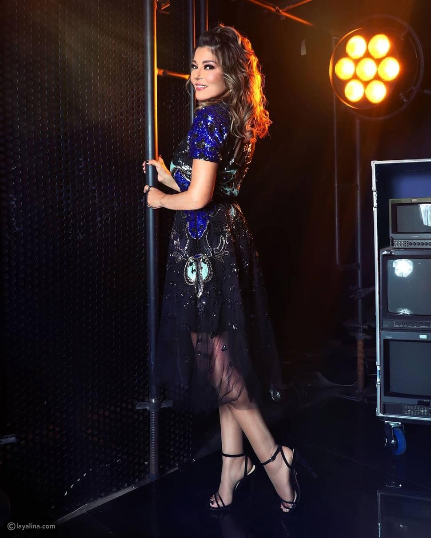 فستان سميرة سعيد في العرض المباشر الأول من ذا فويس