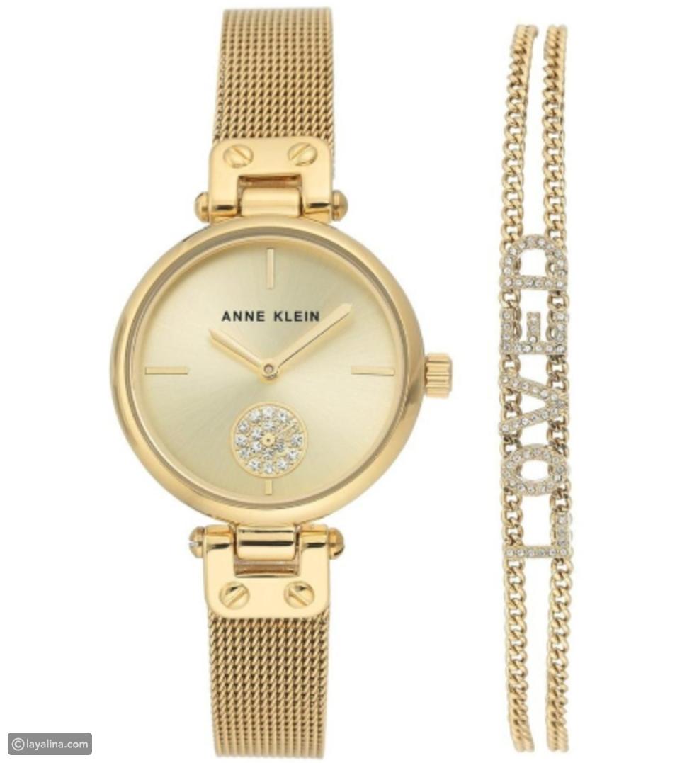 ساعة Champagne Dial Gold من ANNE KLEIN