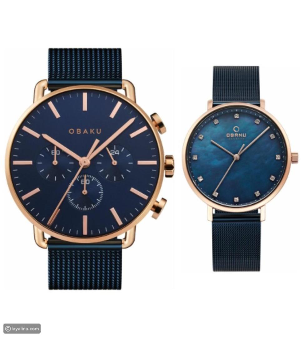 Obaku Blue Mesh couple gift set
