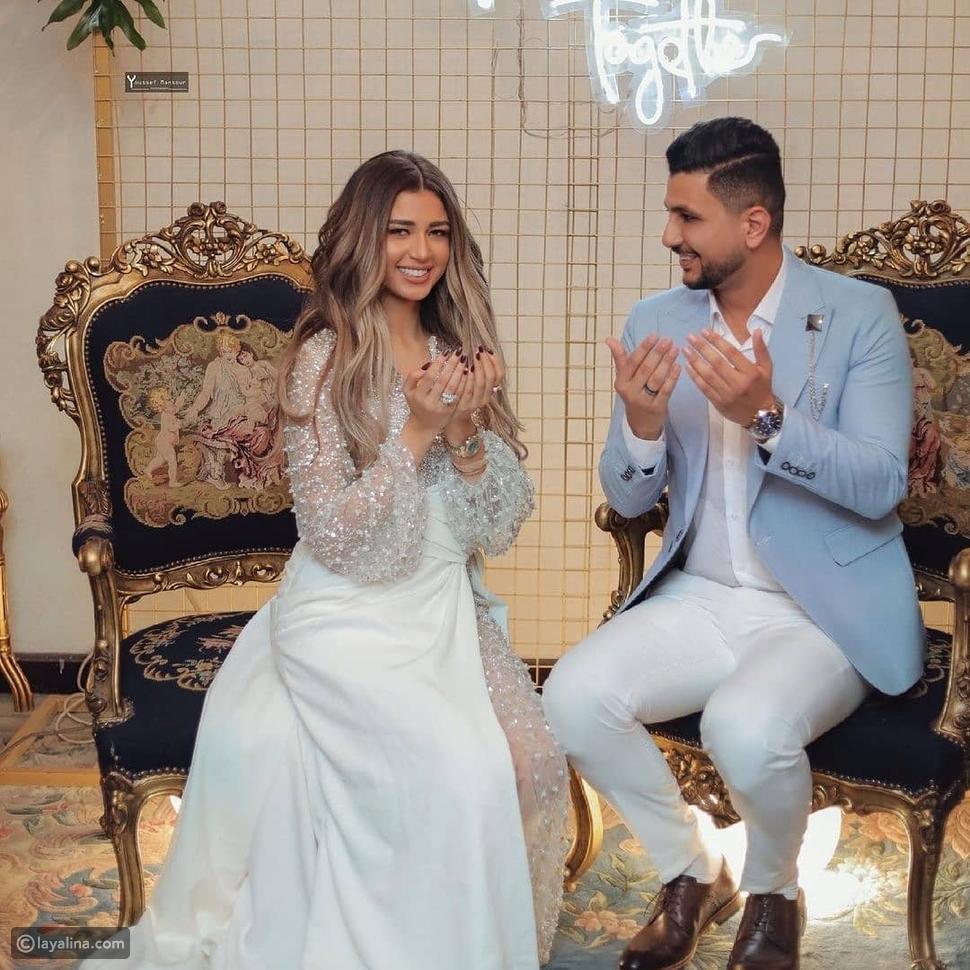 خطوبة اليوتيوبر علي غزلان على ملكة جمال مصر فرح شعبان