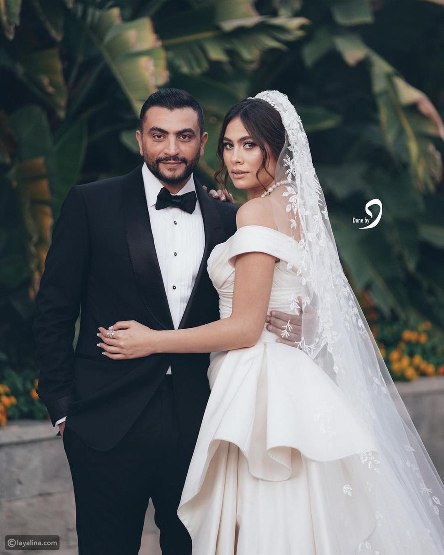 حفل ملكي: هاجر أحمد تخطف الأنظار في زفافها