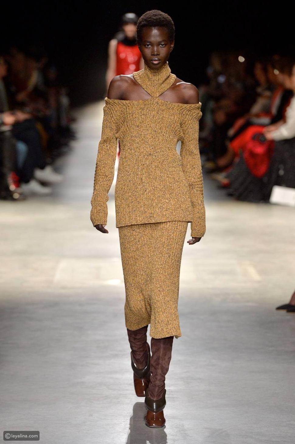 أزياء مبحبوكة مقطوعة