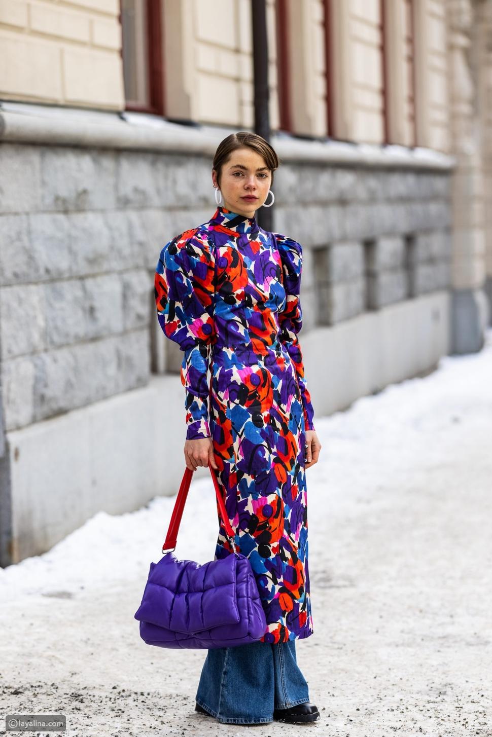 حقائب يد كلاسيكية ملونة