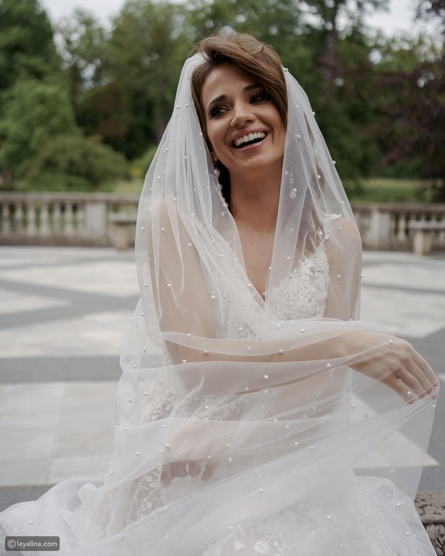 أحدث موضة طرح زفاف 2021