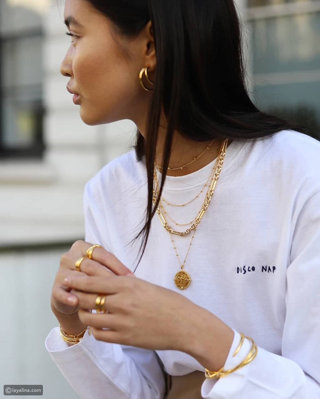 مجوهرات ذهبية جريئة