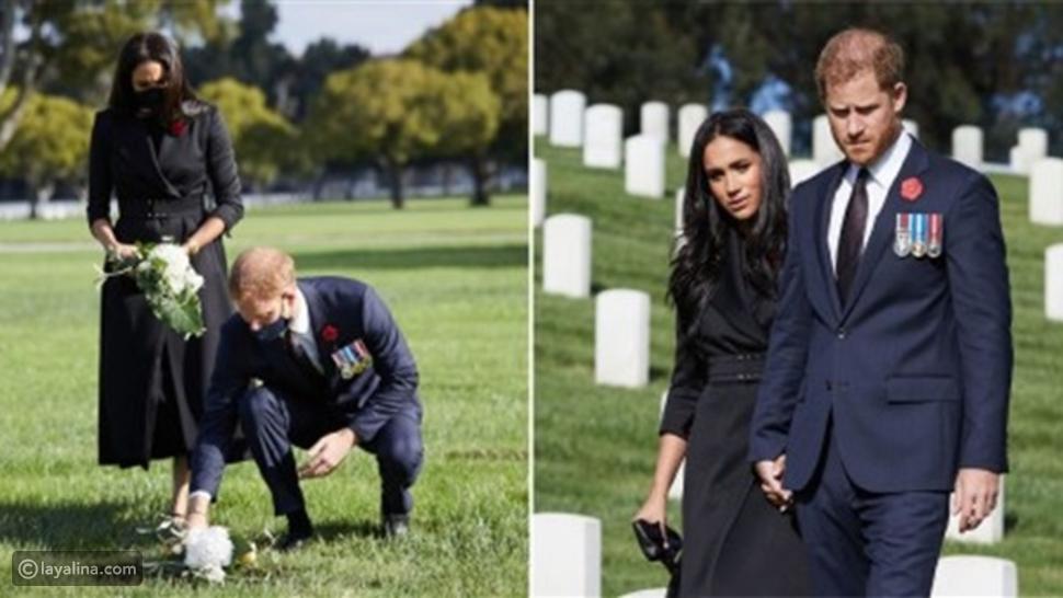 الأمير هاري بمقابر الجنود القدامي في لوس أنجلوس بعد رفض الملكة طلبه