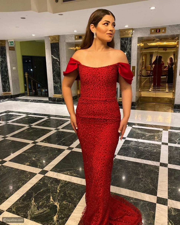 ابنة أحمد زاهر تتصدر الترند بفستانها الأحمر