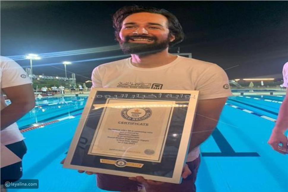 نجوم عرب دخلوا موسوعة غينيس: بطل سباحة وأخرى ارتدت أغلى فستان بالعالم