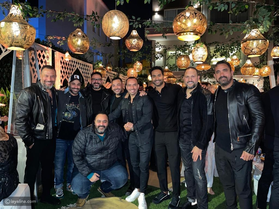 عمرو دياب ويسرا وونجوم الفن والمشاهير يتجمعون في حفل سحور