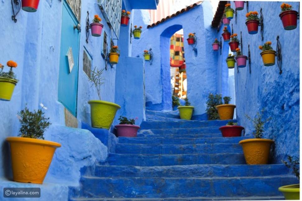 شوارع شفشاون في المغرب