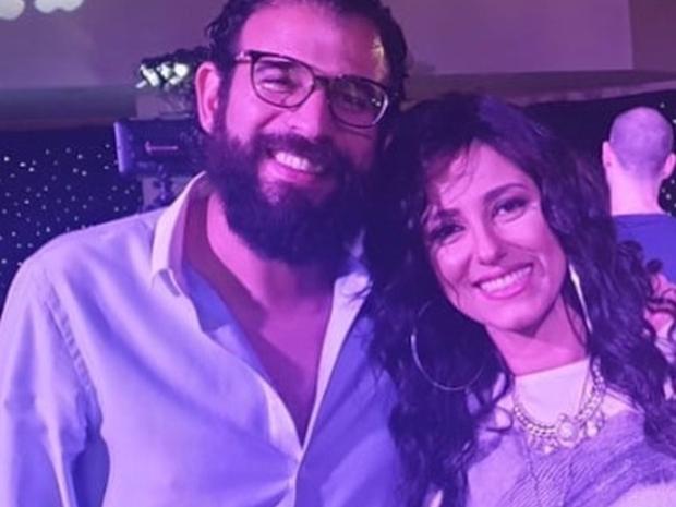 النجمة حنان مطاوع مع زوجها أمير اليماني