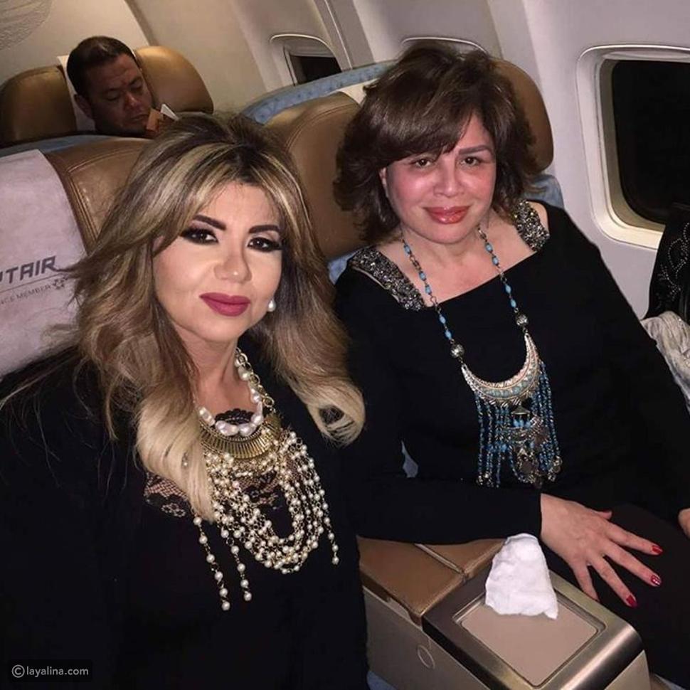 بوسي شلبي مع إلهام شاهين