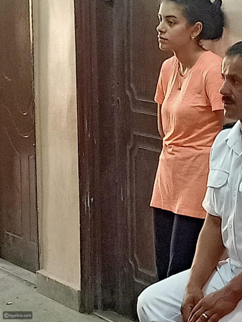 زينب أثناء التحقيق معها في النيابة