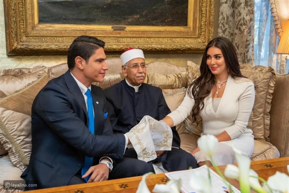 صورة جديدة من عقد قران ياسمين صبري وأحمد أبو هشيمة