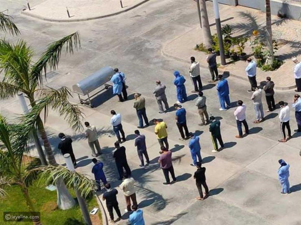 صلاة الجنازة على رجاء الجداوي في مستشفى العزل