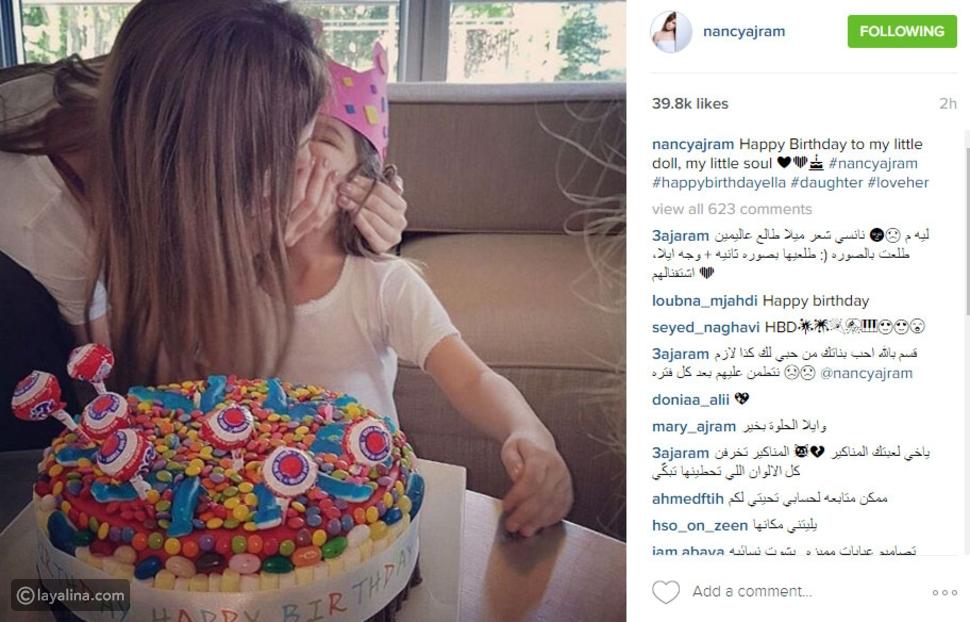 صورة نانسي عجرم تعايد ابنتها بكلمات مؤثرة والنشطاء يطلبون طلباً غريباً!