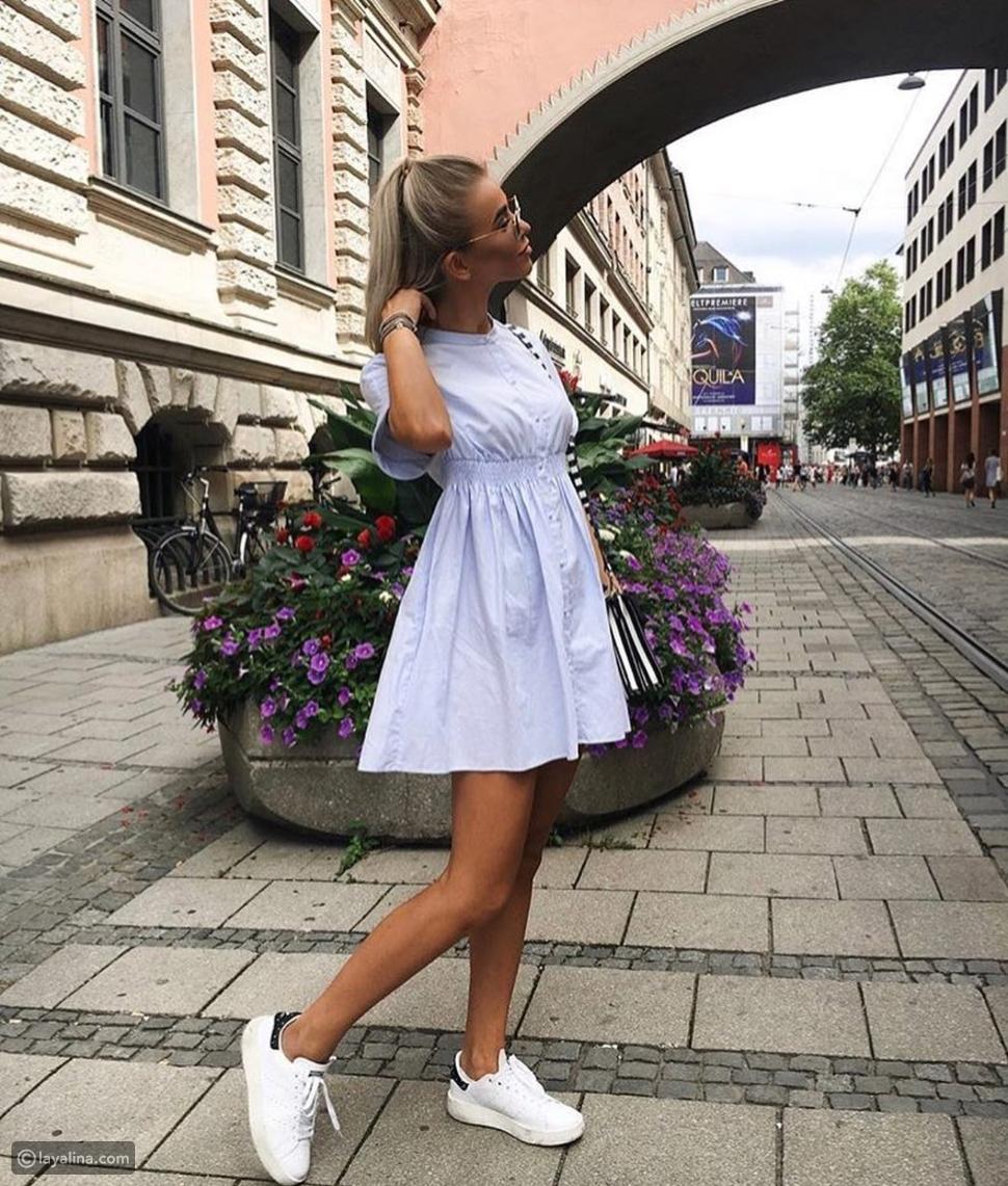 فستان بألوان الباستيل