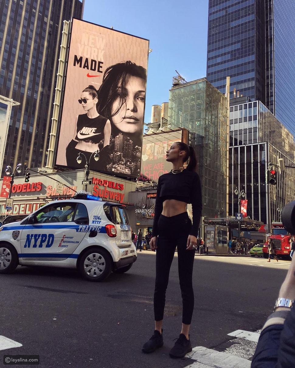 بيلا حديد الوجه الإعلاني الجديد لعلامة Nike الرياضية