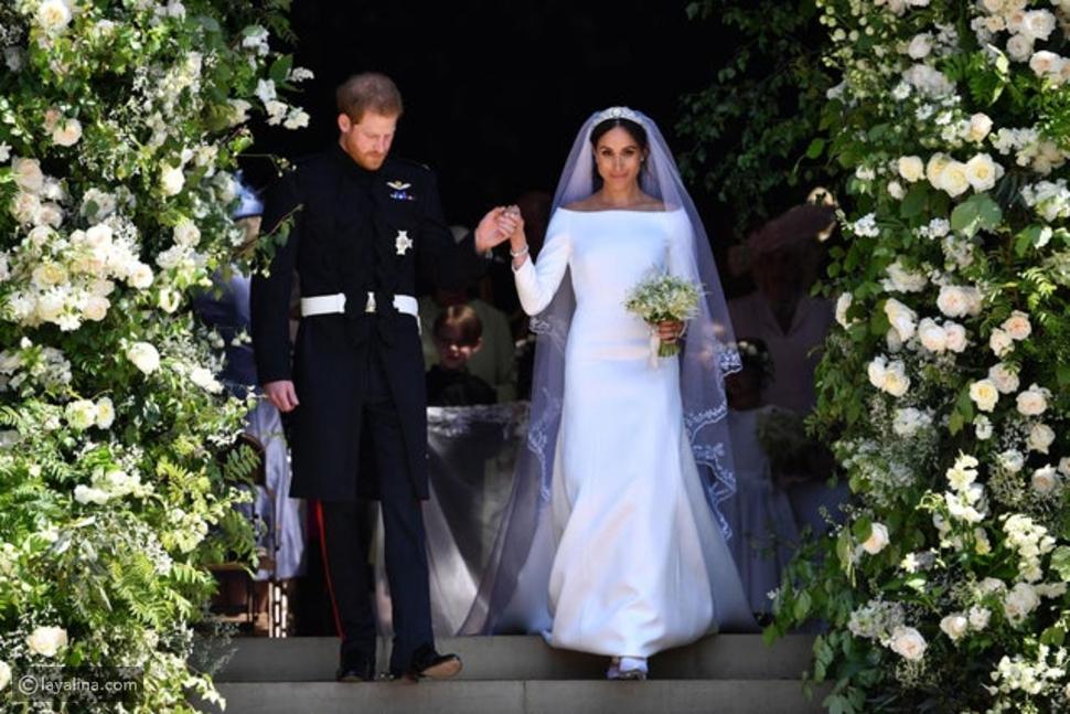 ميغان ماركل دفعت تكاليف فستان زفافها والملكة رفضت ارتدائها تاج ديانا