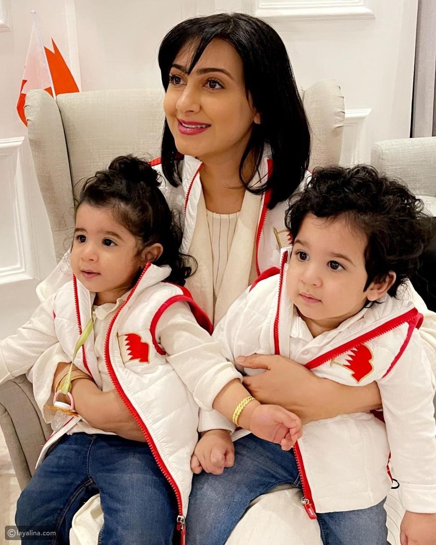 هيفاء حسين تحتفل باليوم الوطني بإطلالة متطابقة مع أبنائها خطفت القلوب