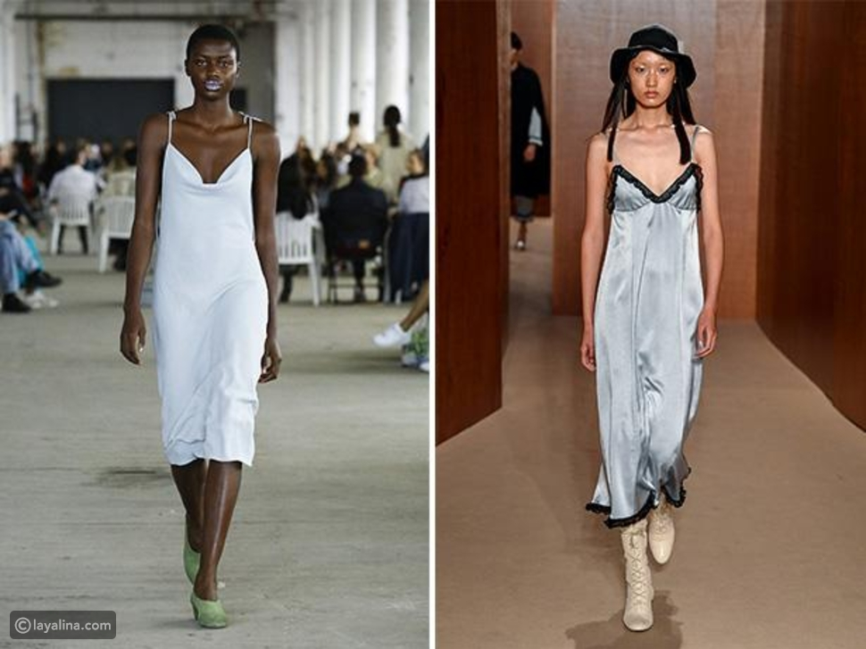 الفستان الساتان