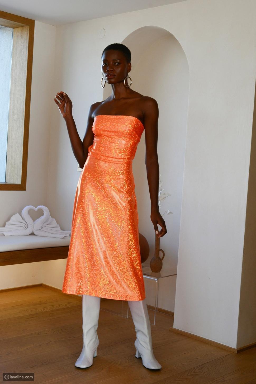 فستان لامع بألوان زاهية منSaks Potts