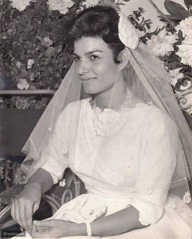صورة نادرة من زفاف إنعام سالوسة بملامح تشبه فيها تارا عماد