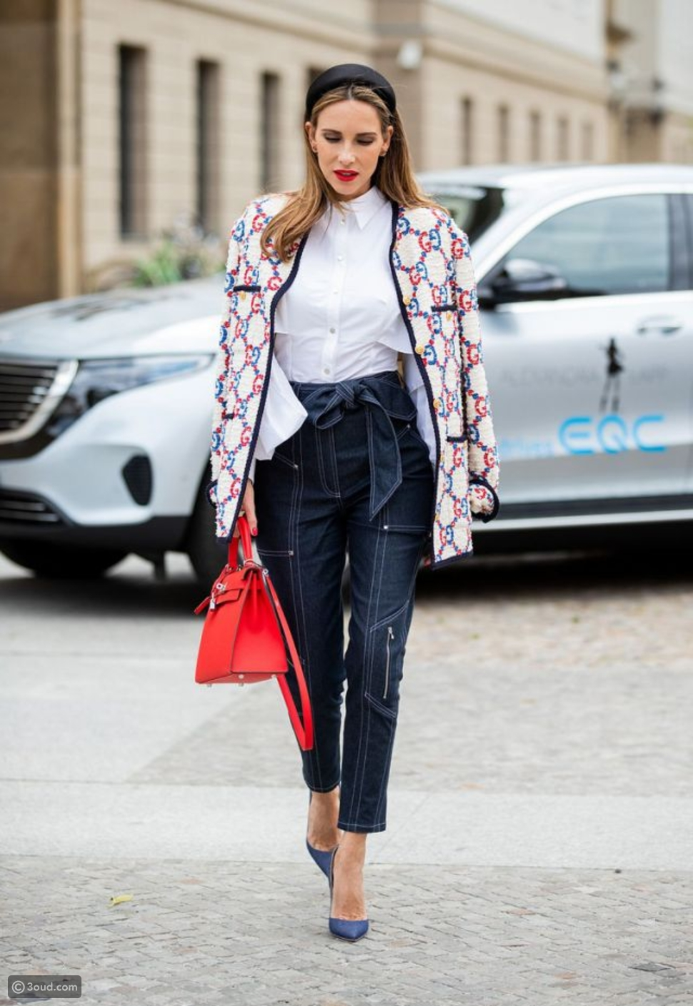 بنطال جينز مع حزام